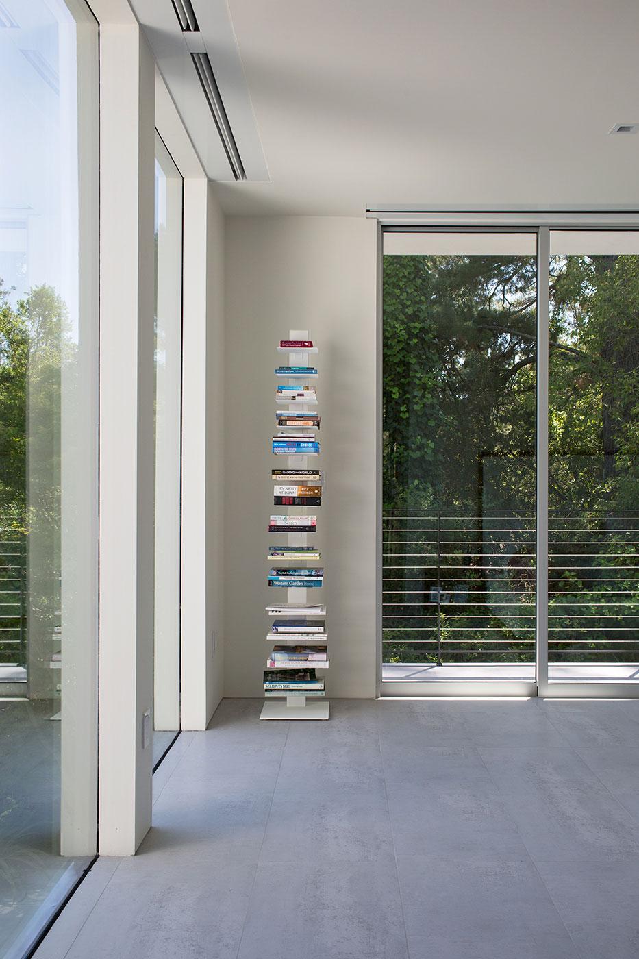 Minimal Modern Addition Home with Dark Grey Stuccoed Walls by Klopf Architecture-14