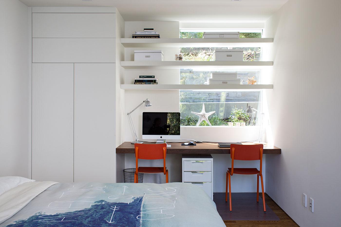 Minimal Modern Addition Home with Dark Grey Stuccoed Walls by Klopf Architecture-16