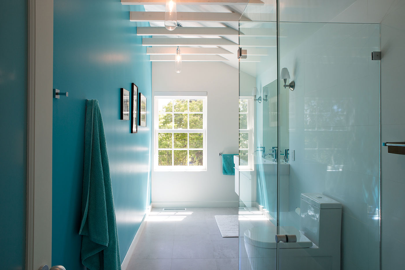 Minimal Modern Addition Home with Dark Grey Stuccoed Walls by Klopf Architecture-20
