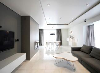 Minimal Style and White Colour Theme of House 02 by Ramunas Manikas