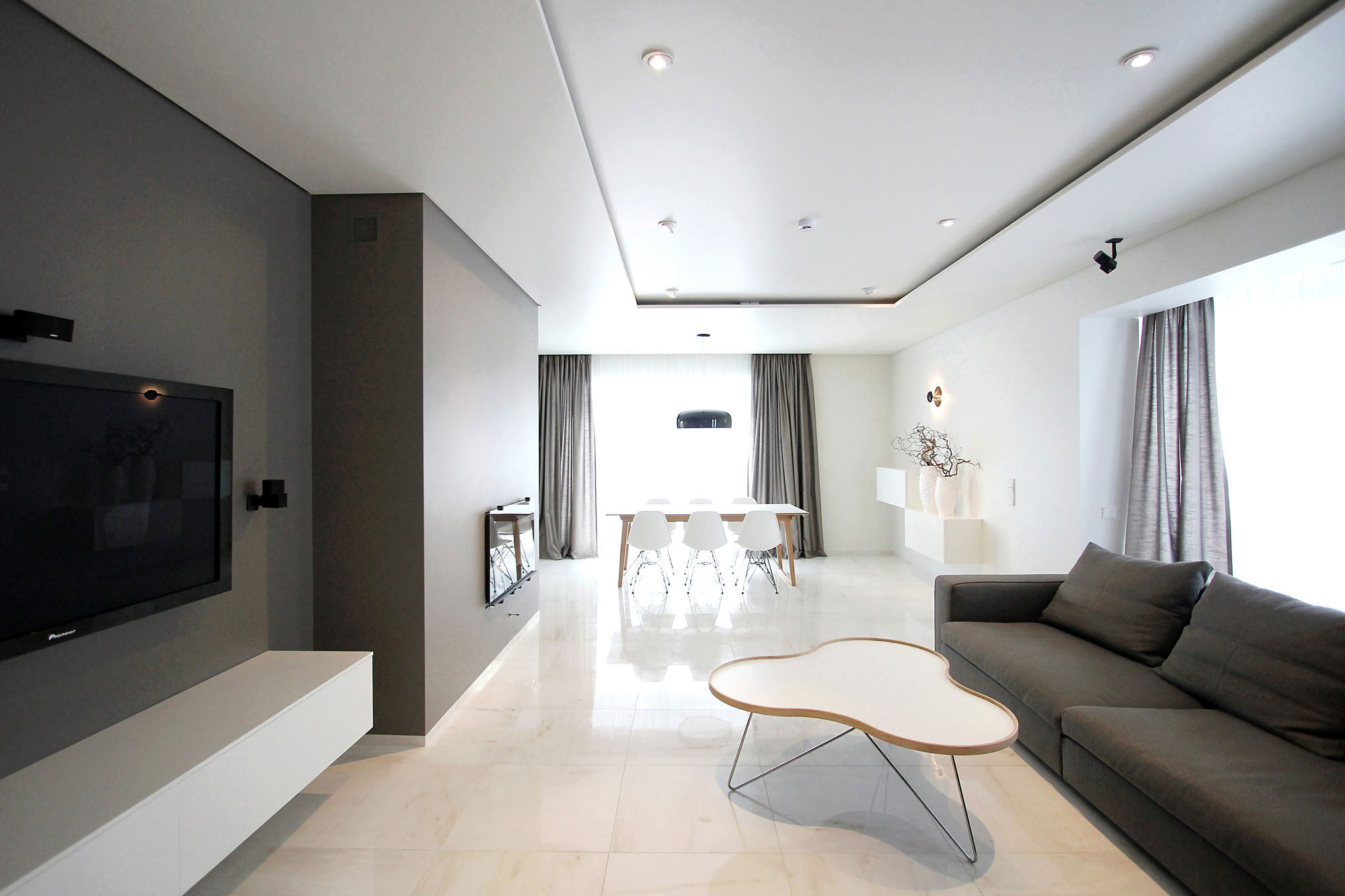 Minimal style and white colour theme of house 02 by for Minimalist look
