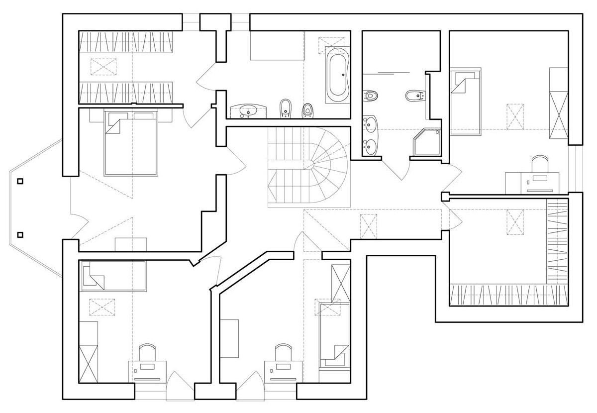Minimal Style and White Colour Theme of House 02 by Ramunas Manikas-23