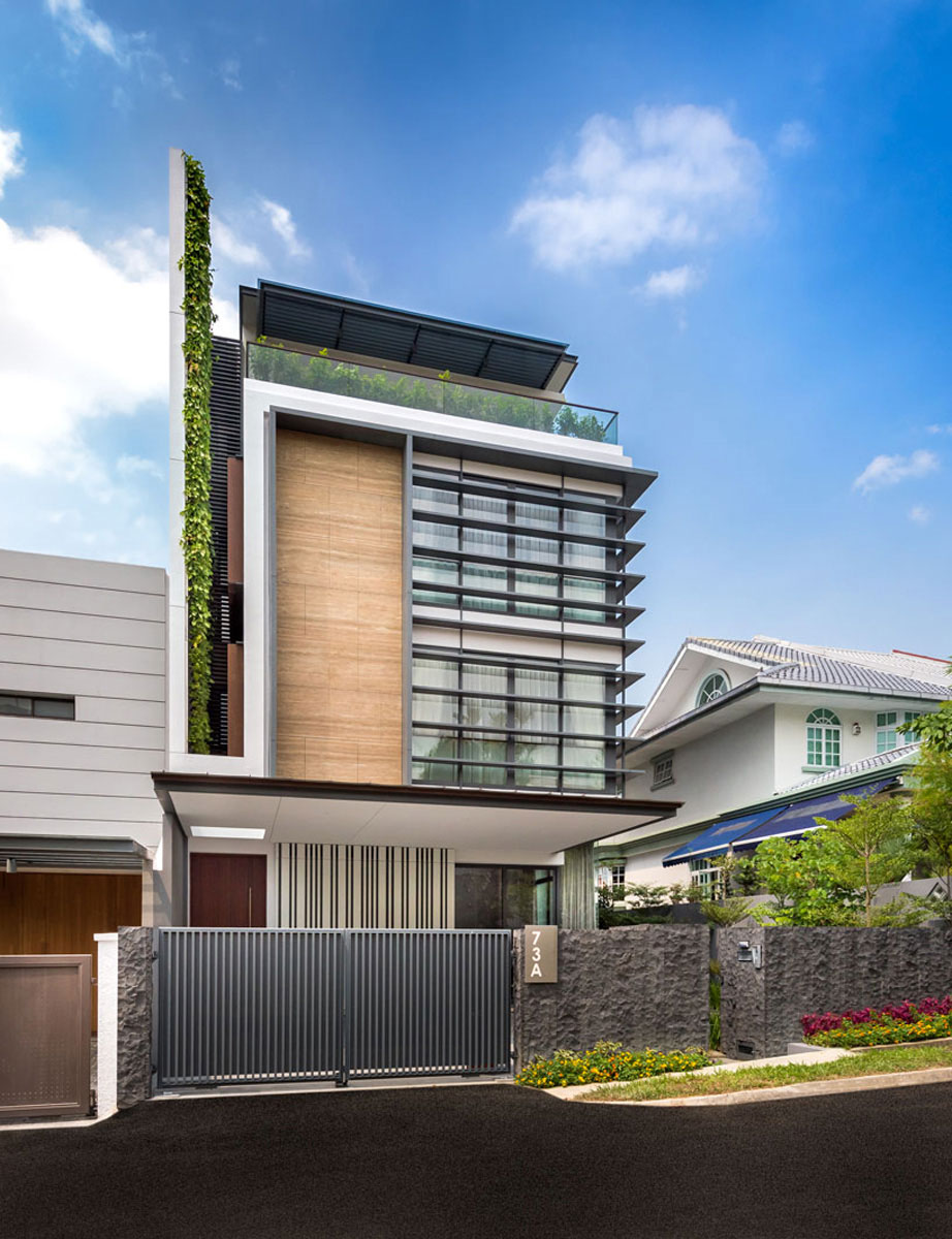 House Singapore Modern Green Wall House In Singaporeadx Architects Pte Ltd .