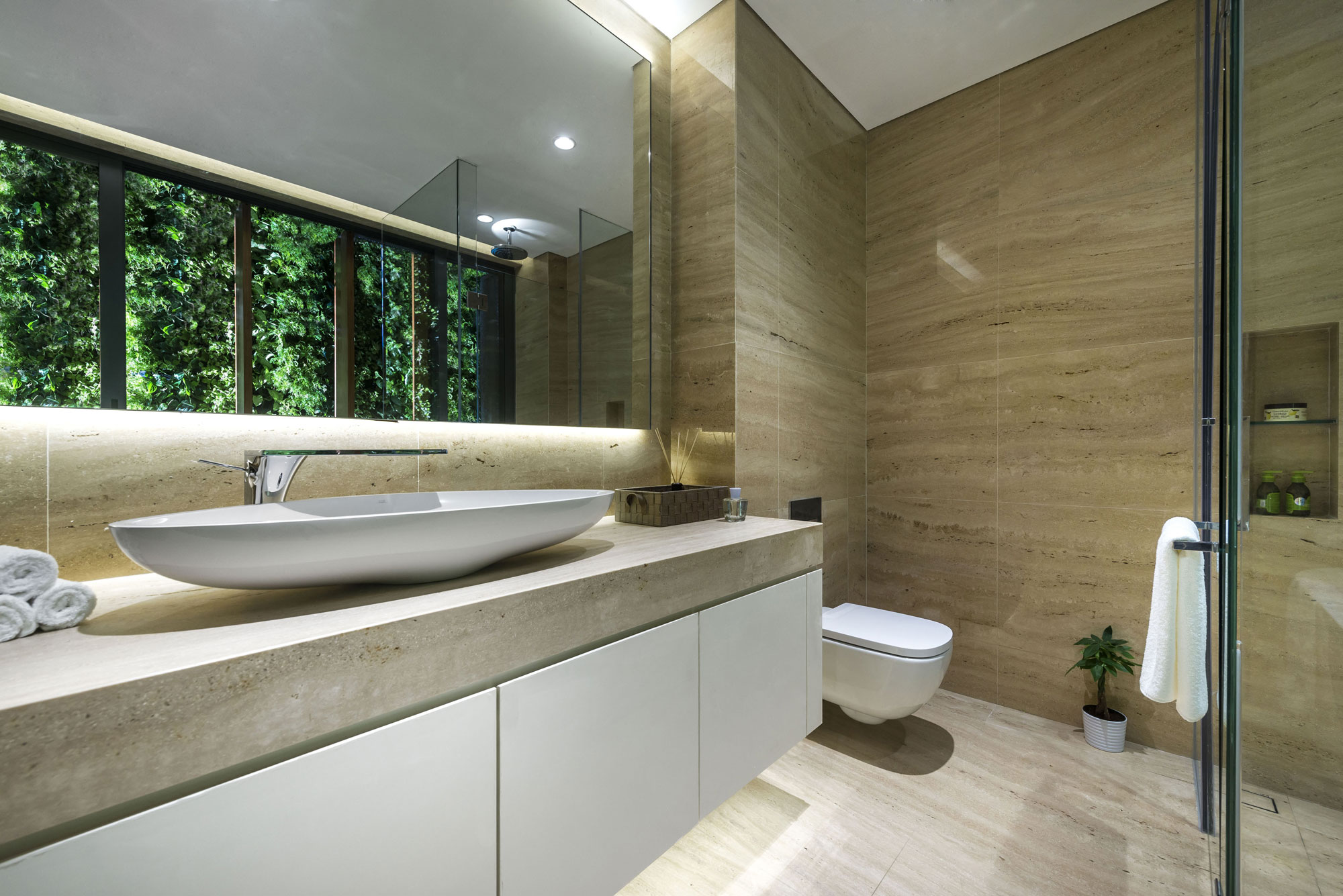 Modern Green Wall House in Singapore by ADX Architects Pte Ltd-06