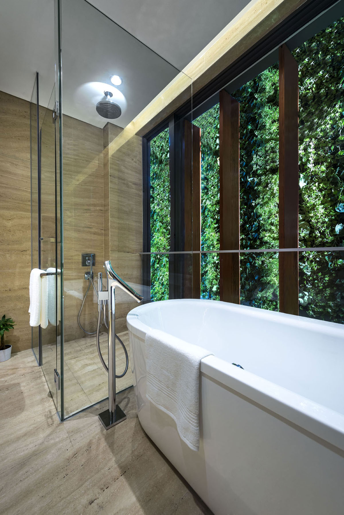 Modern Green Wall House In Singapore By Adx Architects Pte