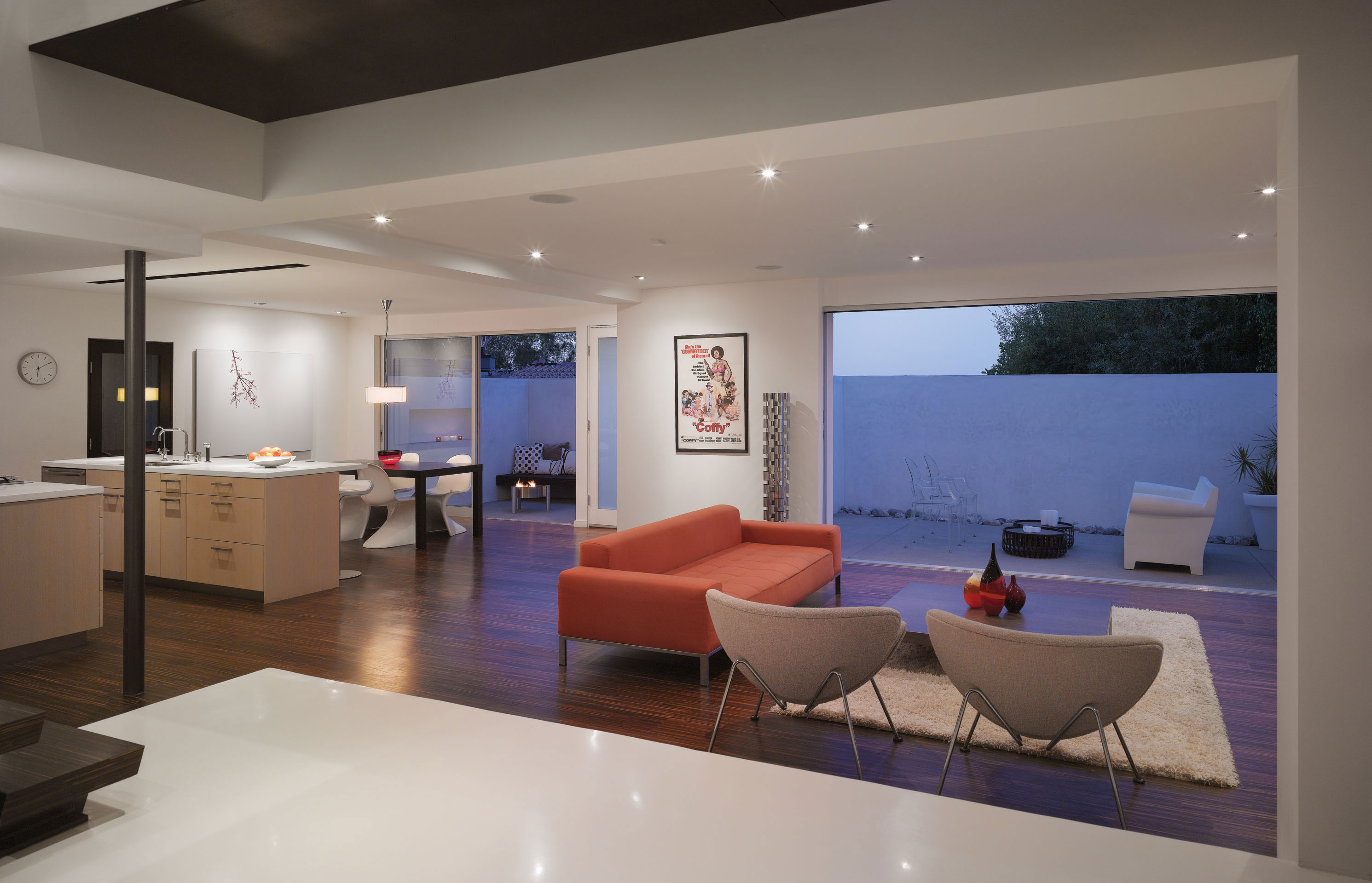 Modern Hollywood Hills Residence with Secret Roof Garden by Griffin Enright Architects-02
