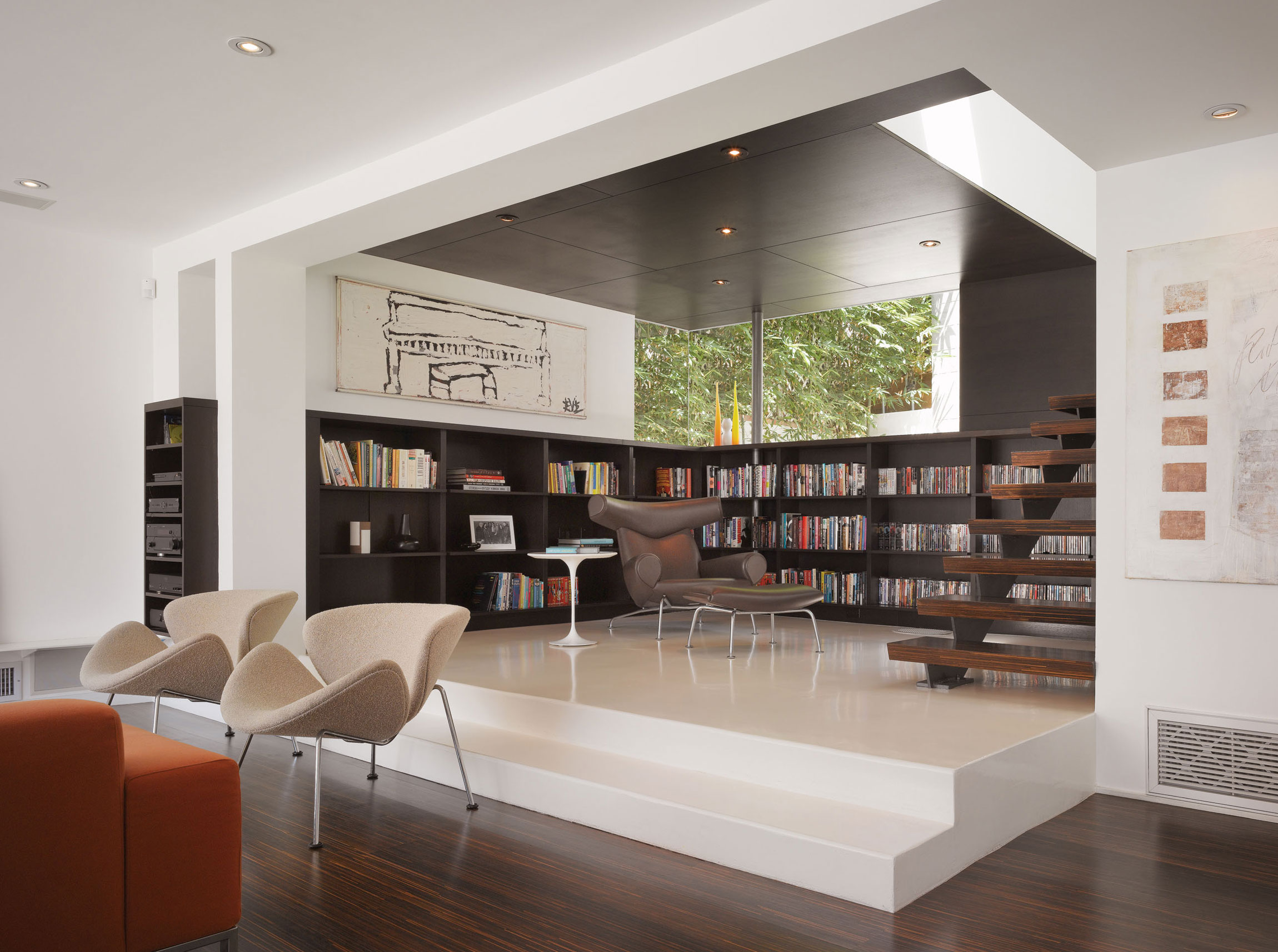 Modern Hollywood Hills Residence with Secret Roof Garden by Griffin Enright Architects-04