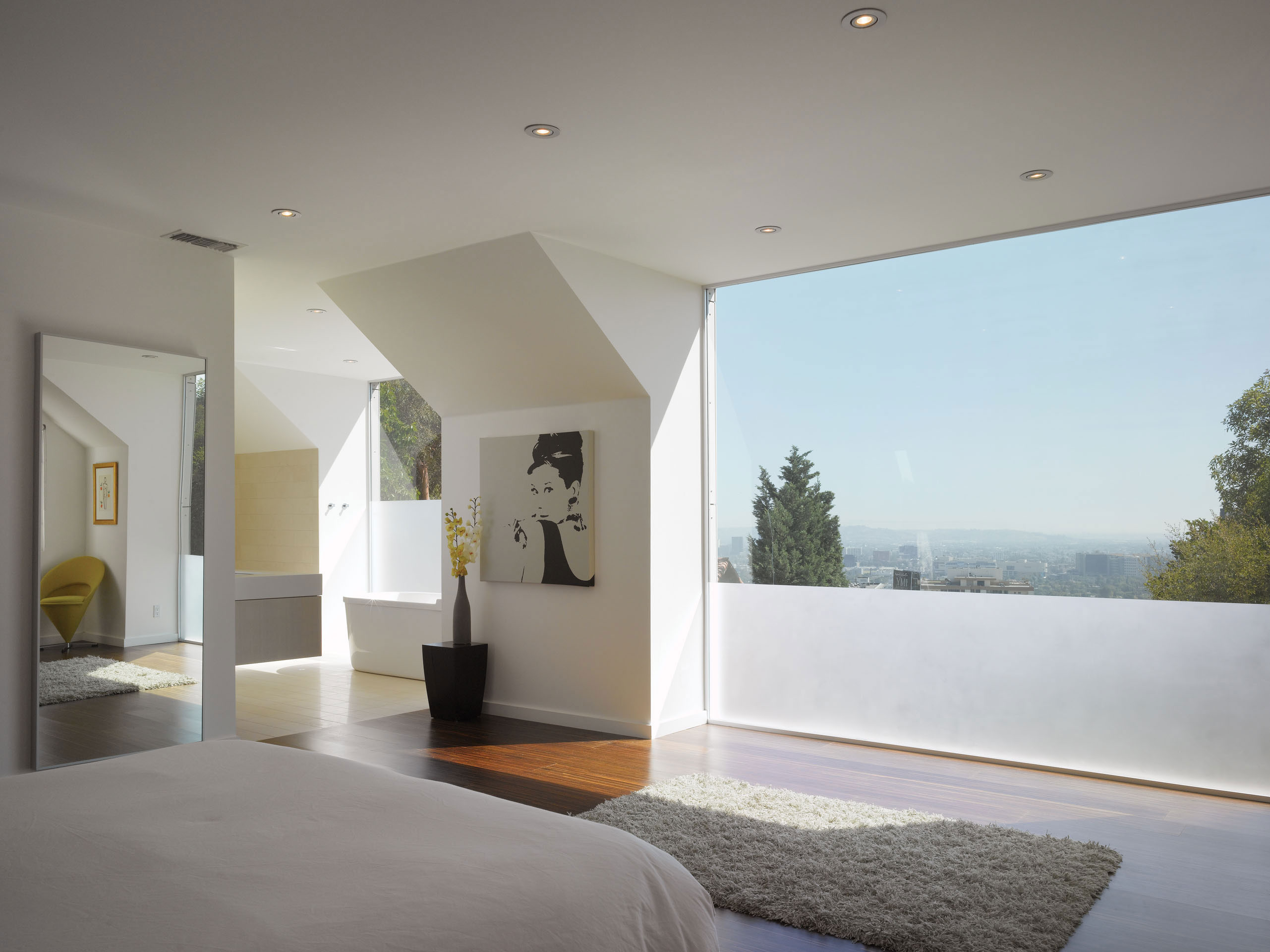 Modern Hollywood Hills Residence with Secret Roof Garden by Griffin Enright Architects-09