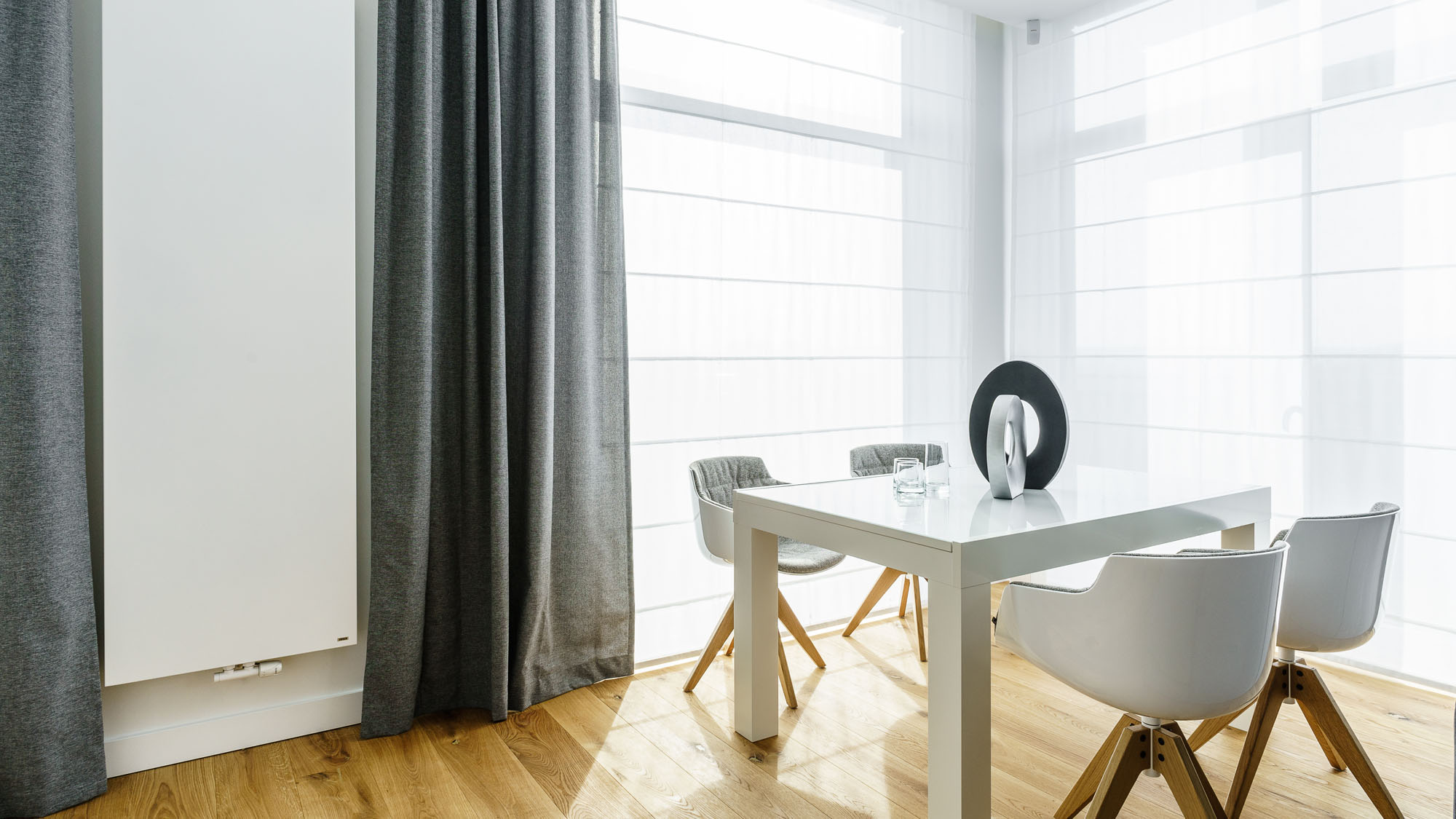 Modern Metallic, Wooden, White Theme Three Bedroom Apartment in Gdynia by Dragon Art-05