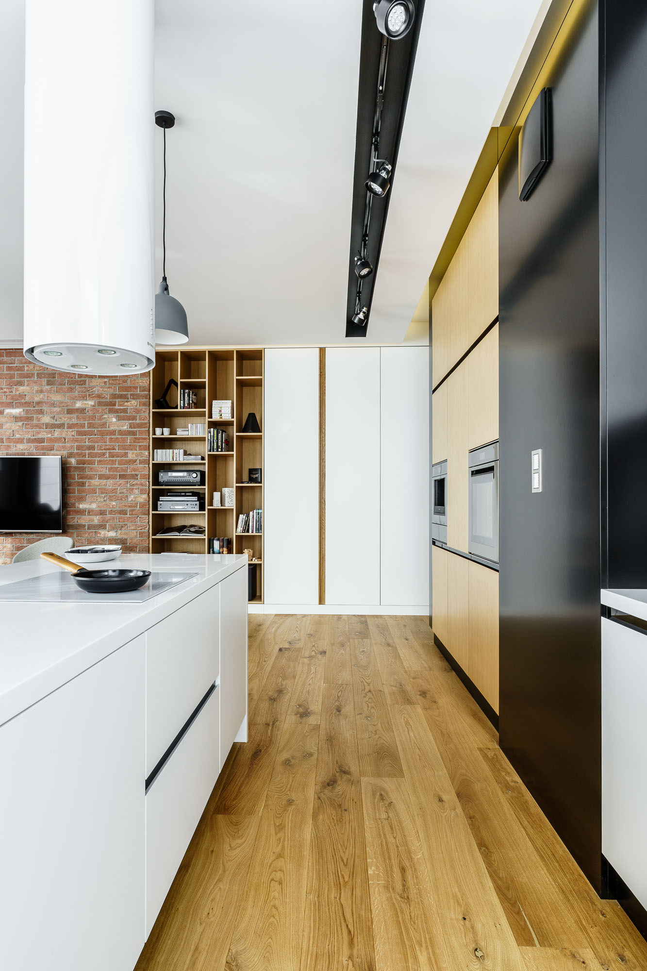 Modern Metallic, Wooden, White Theme Three Bedroom Apartment in Gdynia by Dragon Art-17