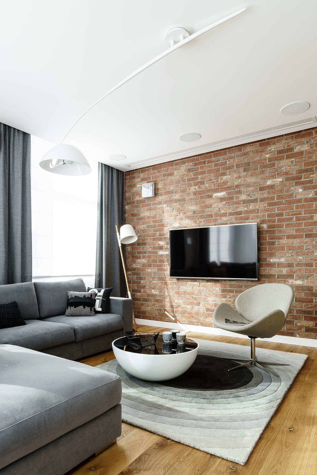 Modern Metallic, Wooden, White Theme Three Bedroom Apartment in Gdynia by Dragon Art-18