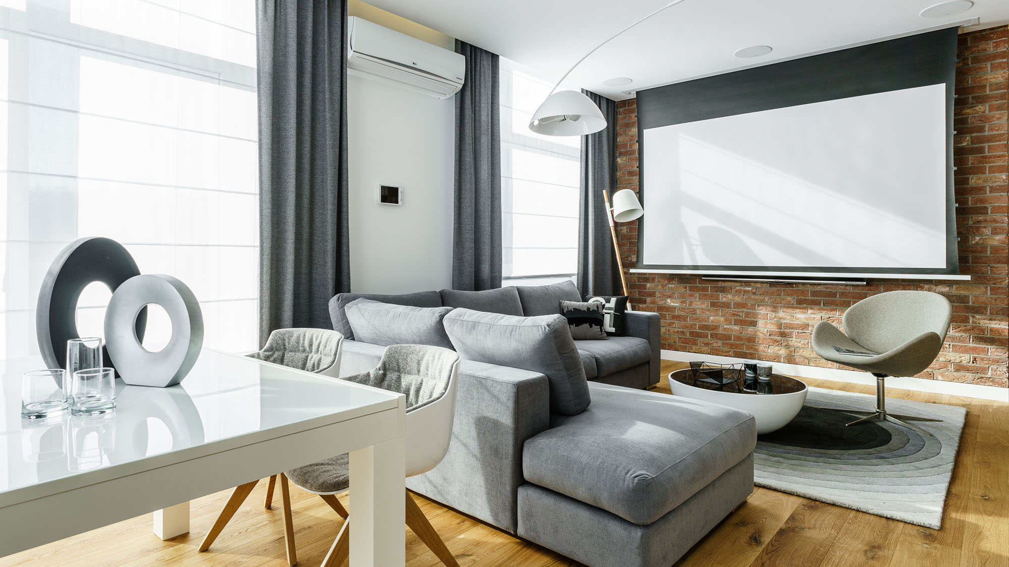Modern Metallic, Wooden, White Theme Three Bedroom Apartment in Gdynia by Dragon Art-21