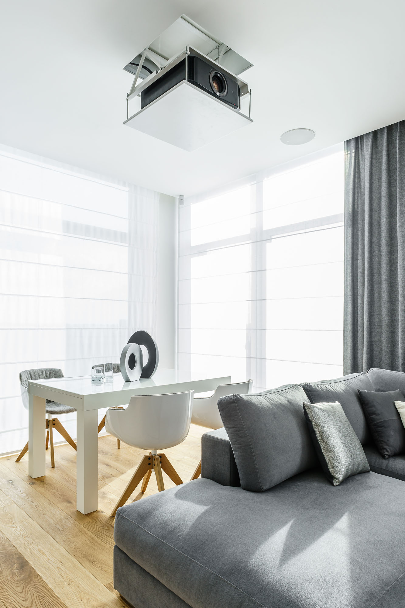 Modern Metallic, Wooden, White Theme Three Bedroom Apartment in Gdynia by Dragon Art-23
