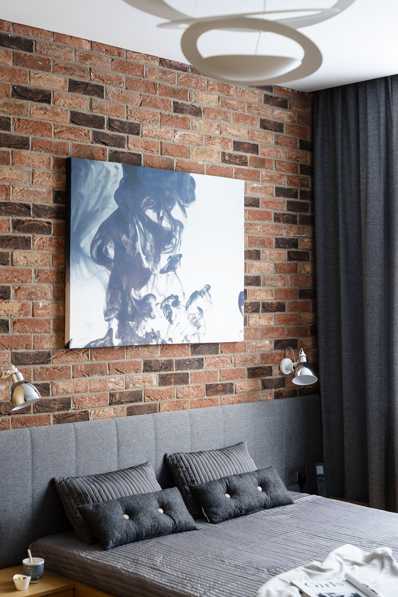 Modern Metallic, Wooden, White Theme Three Bedroom Apartment in Gdynia by Dragon Art-30
