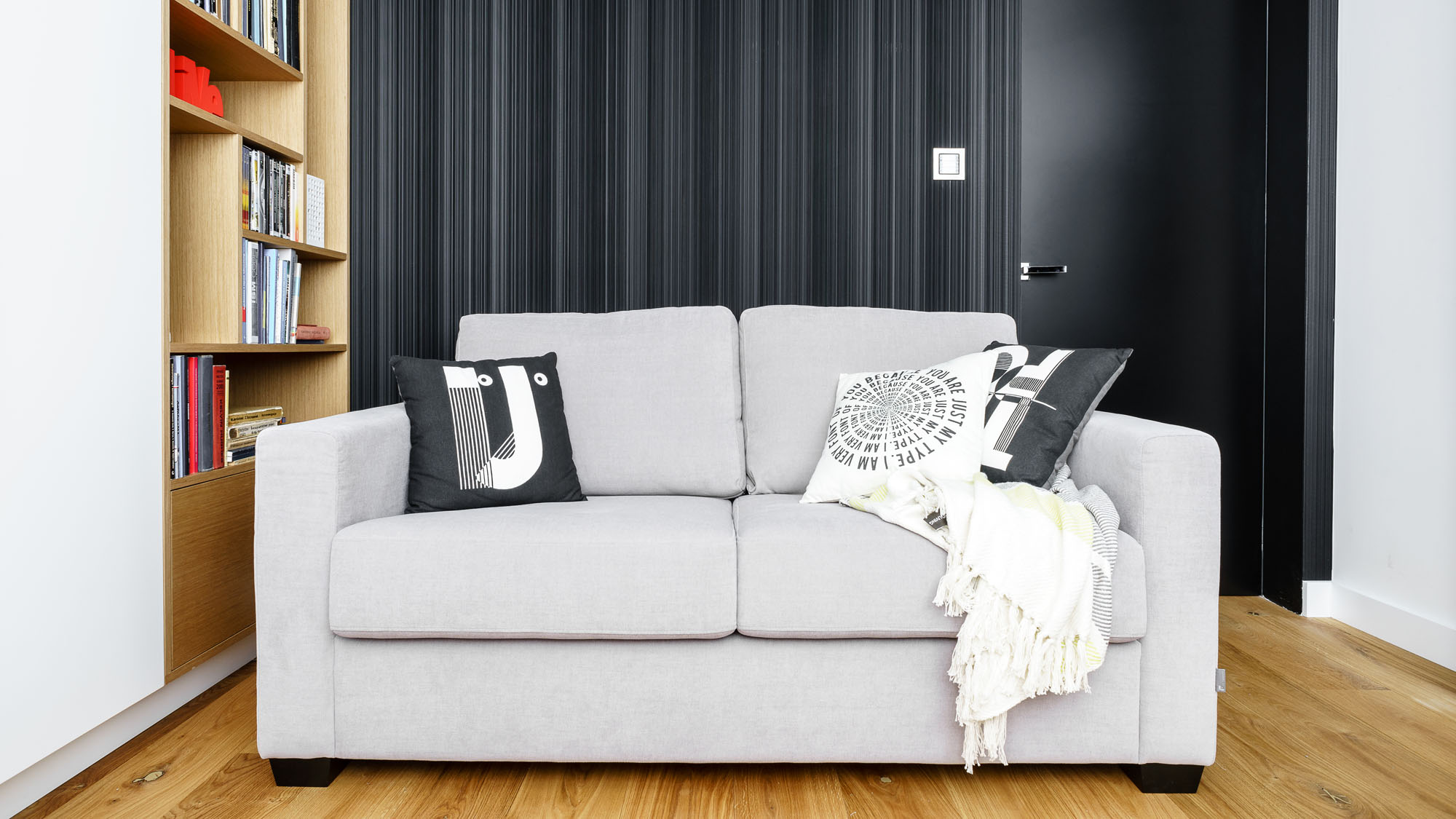 Modern Metallic, Wooden, White Theme Three Bedroom Apartment in Gdynia by Dragon Art-44