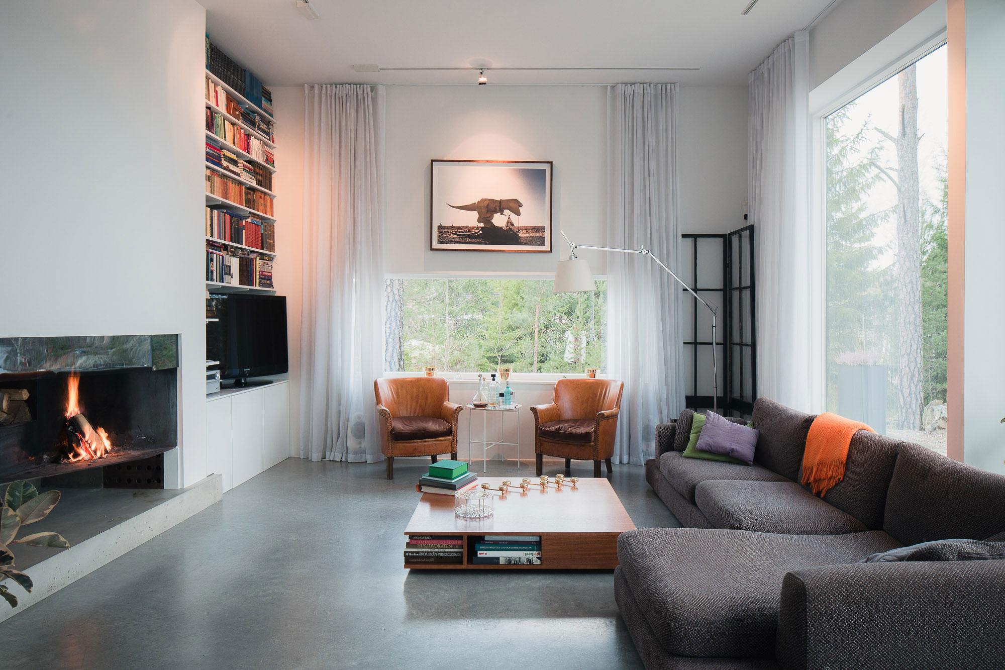 Modern villa stern s in ingar by gabriel minguez for Design decoratie woonkamer