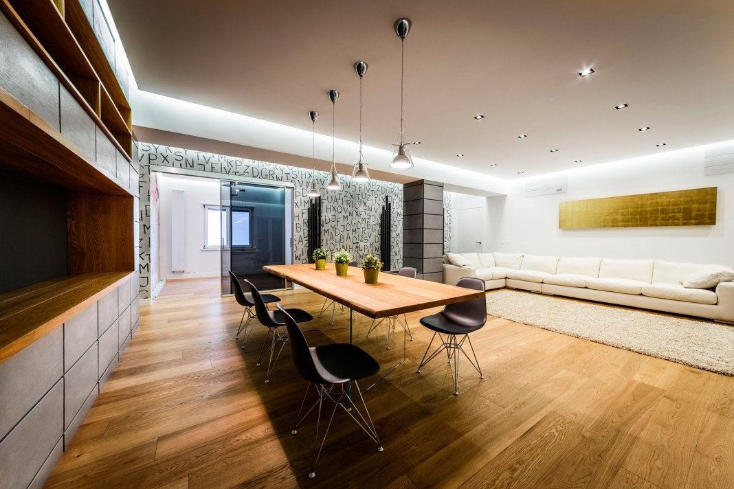 Monolithic Apartment with Predominant Wood Elements by Brain Factory