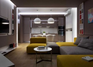 Sophisticate Moon Box Apartment in Kiev by Denis Rakaev