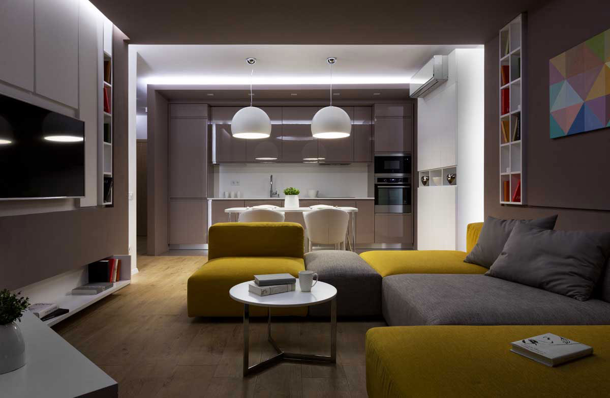 Sophisticate Moon Box Apartment in Kiev by Denis Rakaev-09