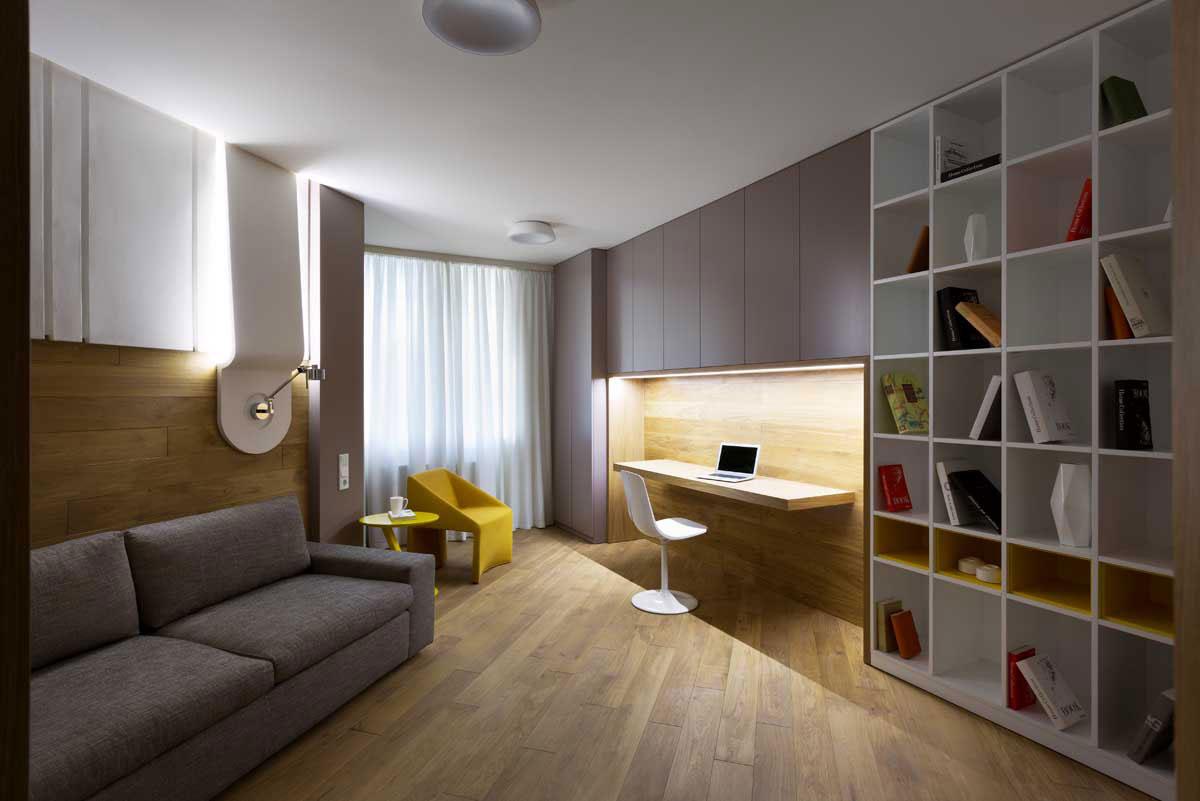 Sophisticate Moon Box Apartment in Kiev by Denis Rakaev-13