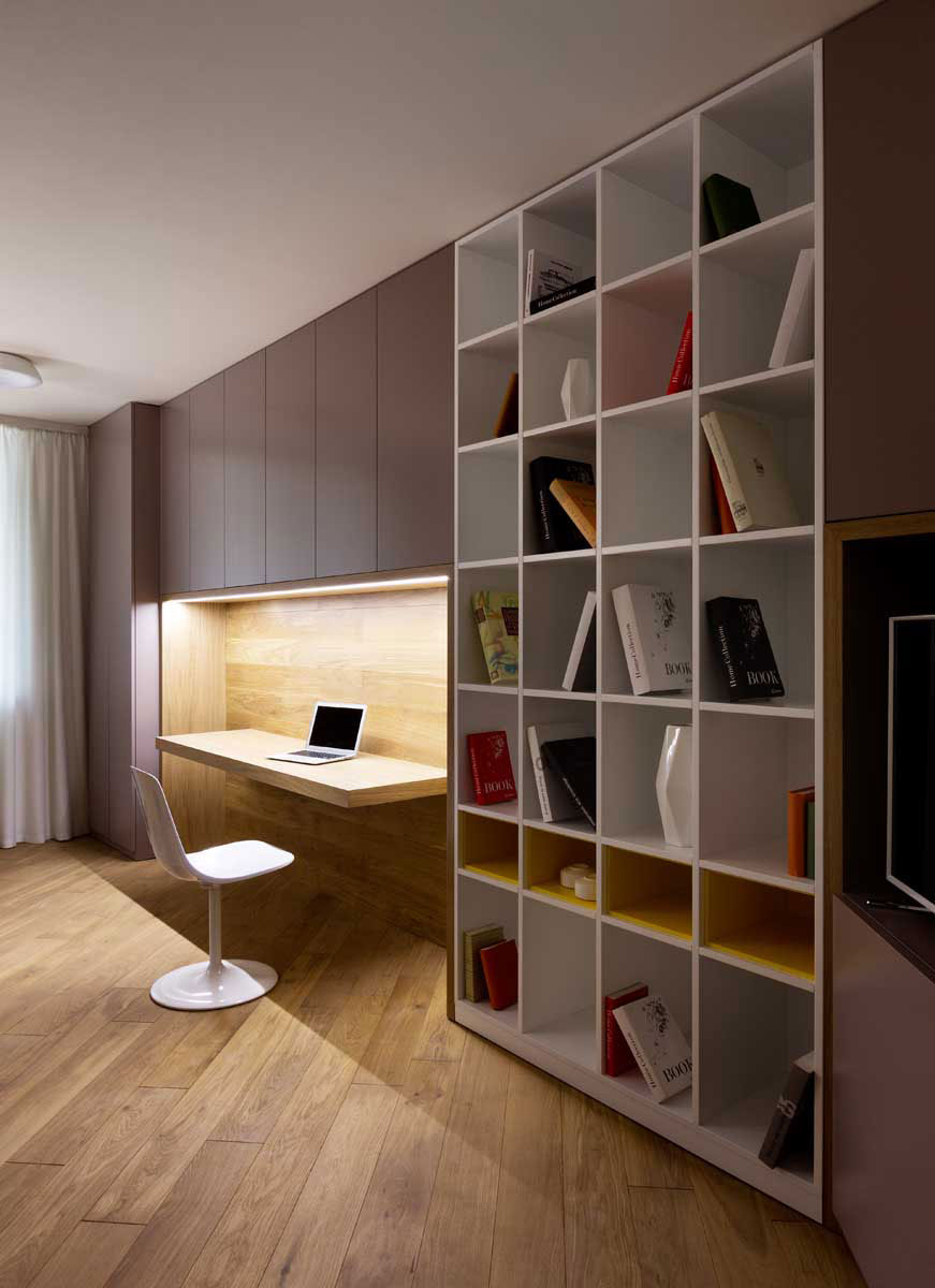 Sophisticate Moon Box Apartment in Kiev by Denis Rakaev-15