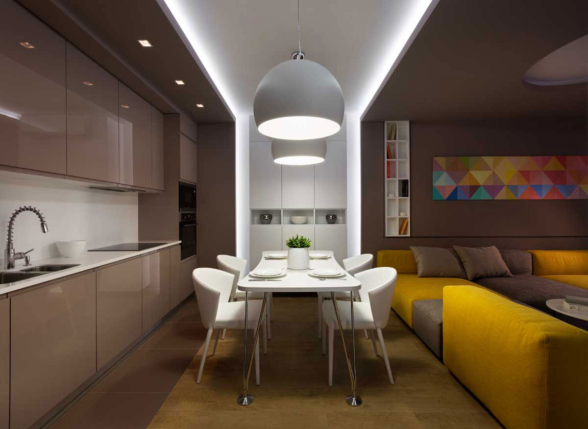 Sophisticate Moon Box Apartment in Kiev by Denis Rakaev-17