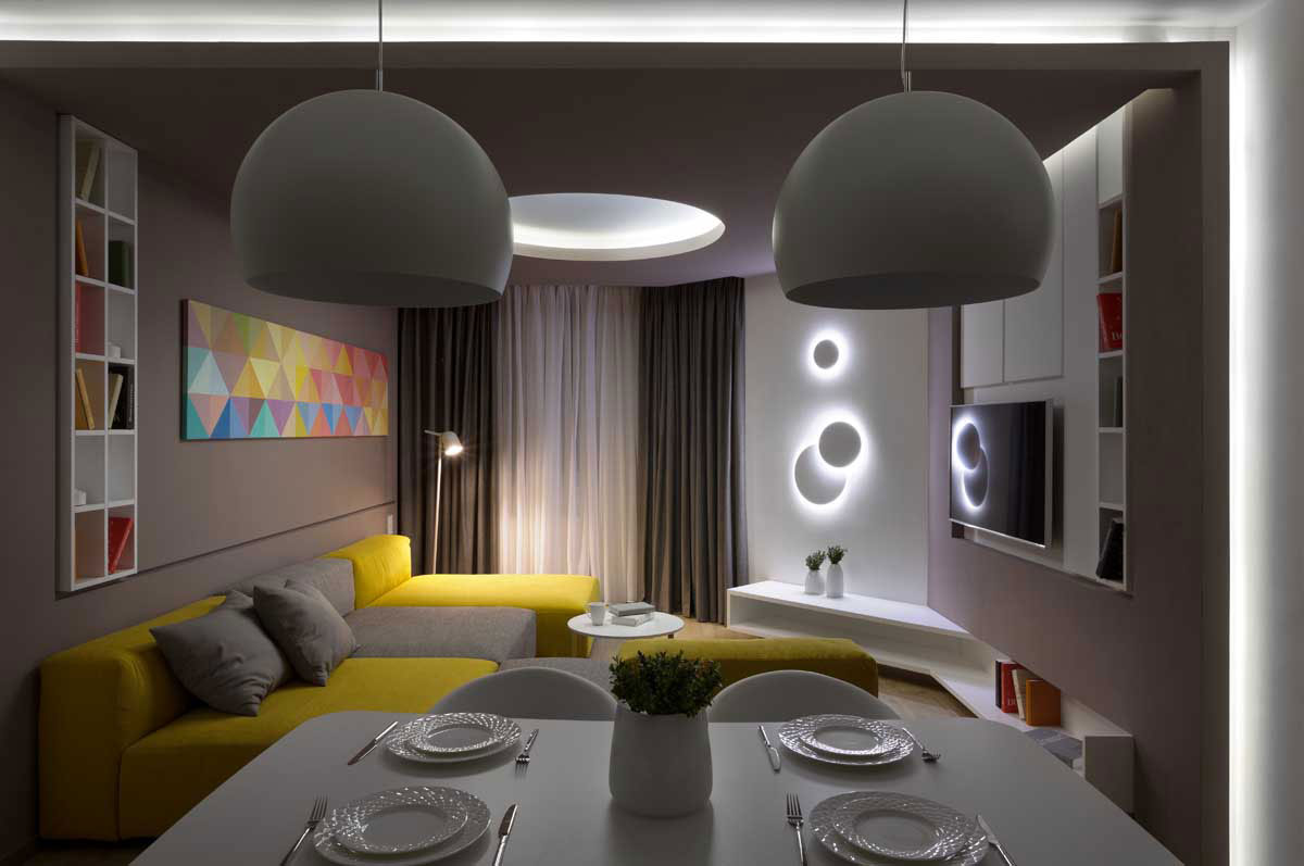 Sophisticate Moon Box Apartment in Kiev by Denis Rakaev-19