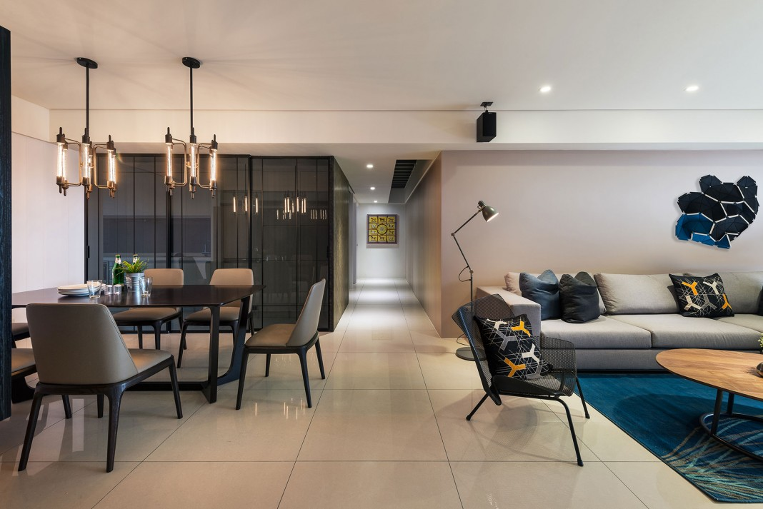 Stylish Element Apartment in Taiwan by White Interior Design ...