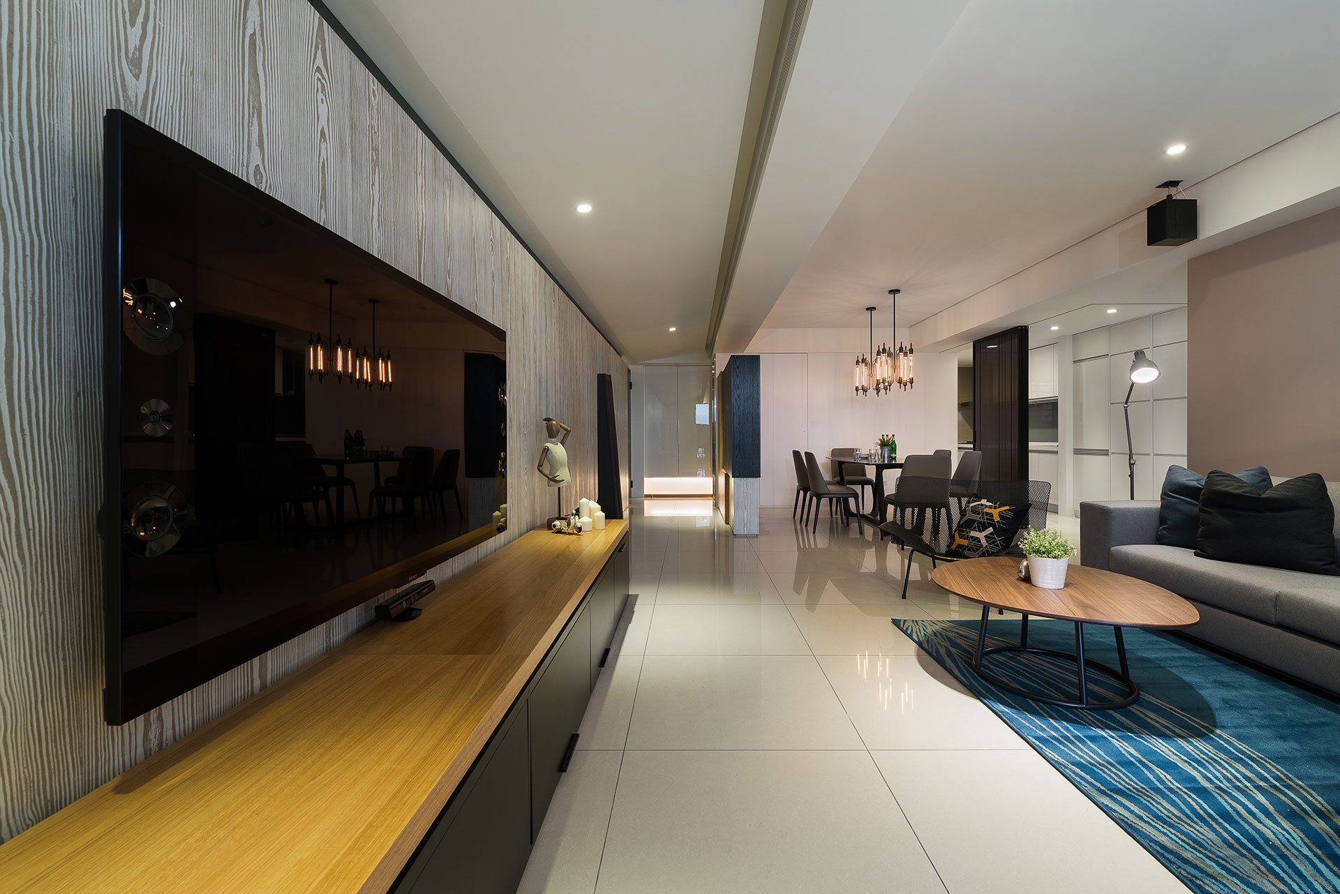 Stylish Element Apartment in Taiwan by White Interior Design-10