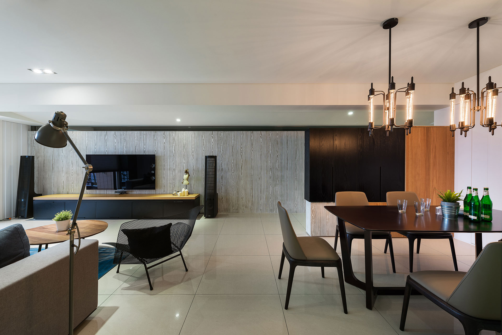 stylish element apartment in taiwanwhite interior design