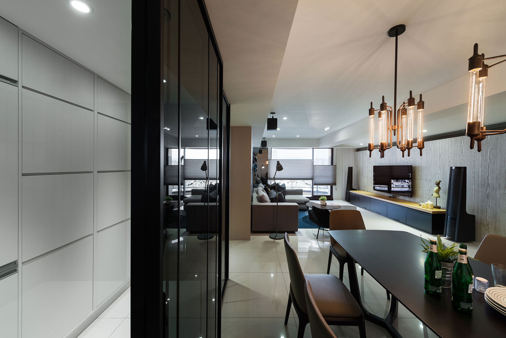 Stylish Element Apartment In Taiwan By White Interior Design 15