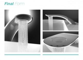 Stylish Swirl Bathroom Tap with Spiral Stream of Water and 15% Water Saving by Simin Qiu