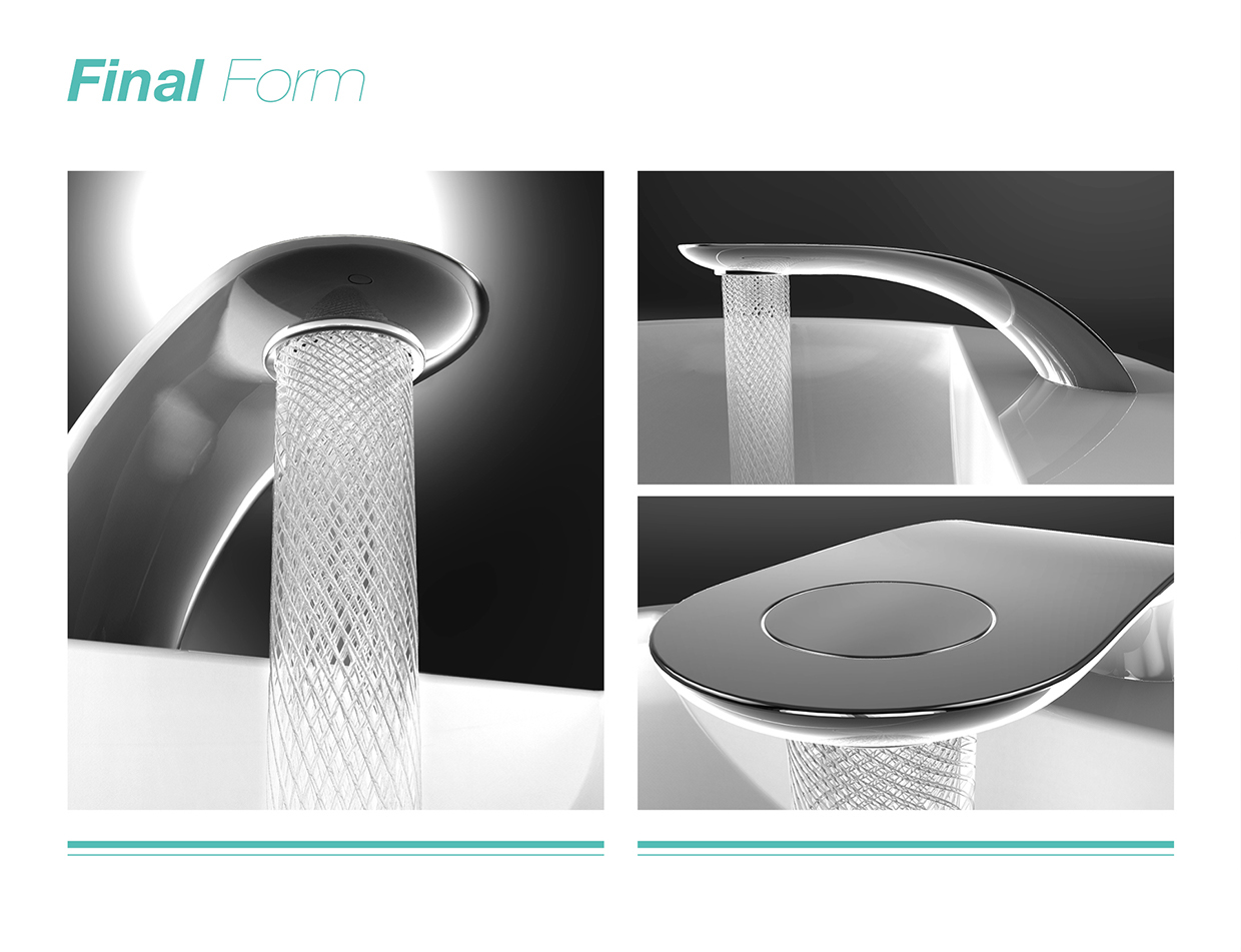 Stylish Swirl Bathroom Tap with Spiral Stream of Water and 15 Water Saving by Simin Qiu-07