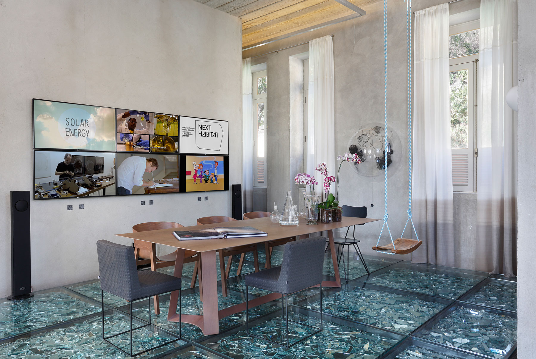 Stylish and Eclectic Design with Broken Glass Floor of Lab LZ for Casa Cor Rio 2015 by Giselle Taranto Architecture-21