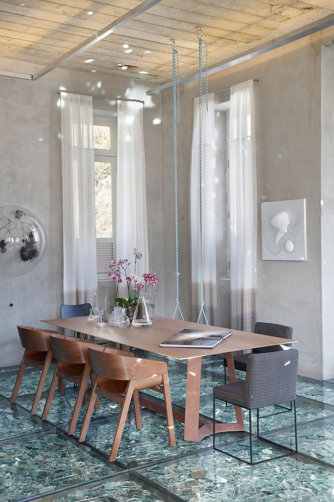 Stylish and Eclectic Design with Broken Glass Floor of Lab LZ for Casa Cor Rio 2015 by Giselle Taranto Architecture-24