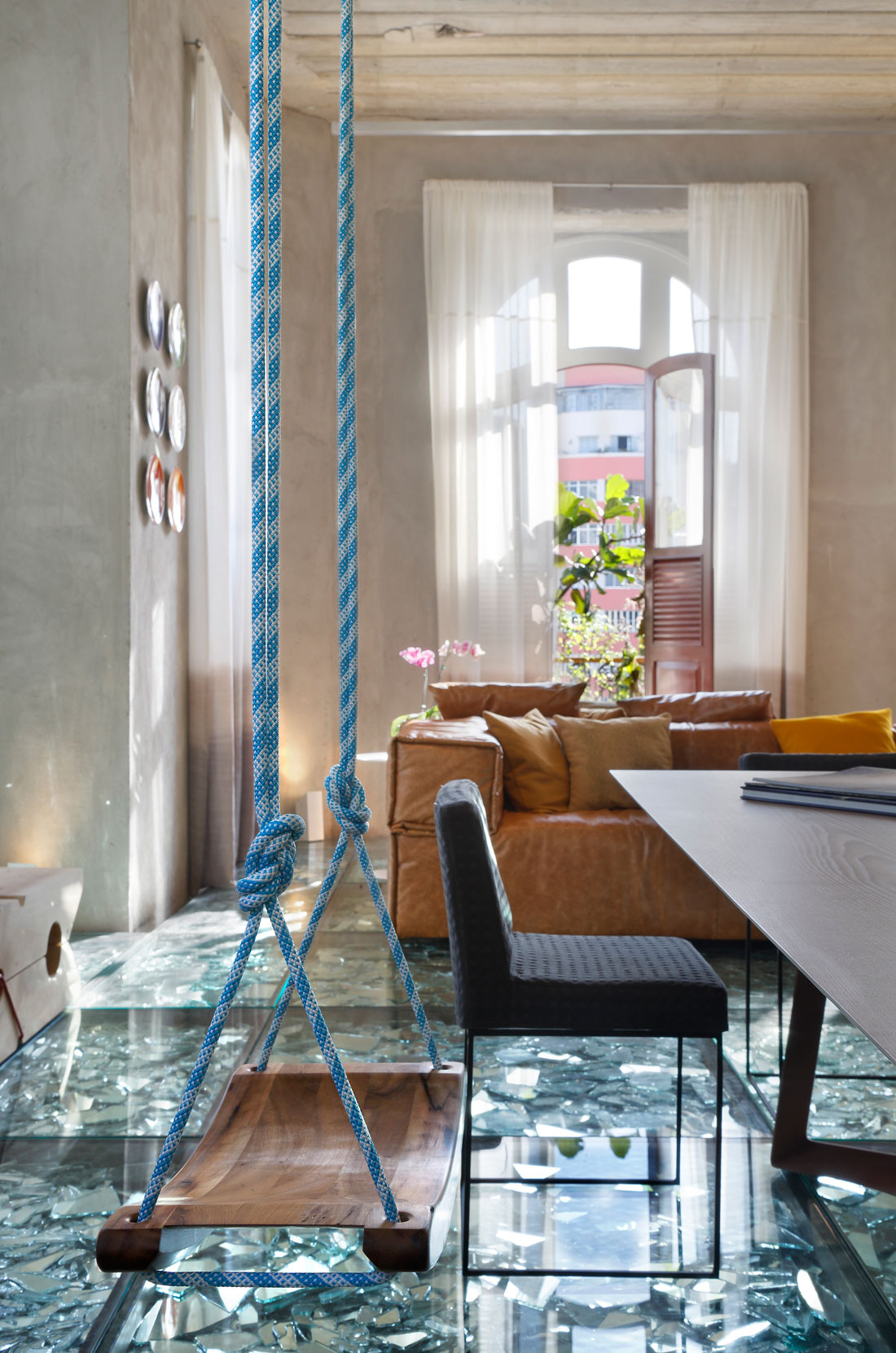 Stylish and Eclectic Design with Broken Glass Floor of Lab LZ for Casa Cor Rio 2015 by Giselle Taranto Architecture-26