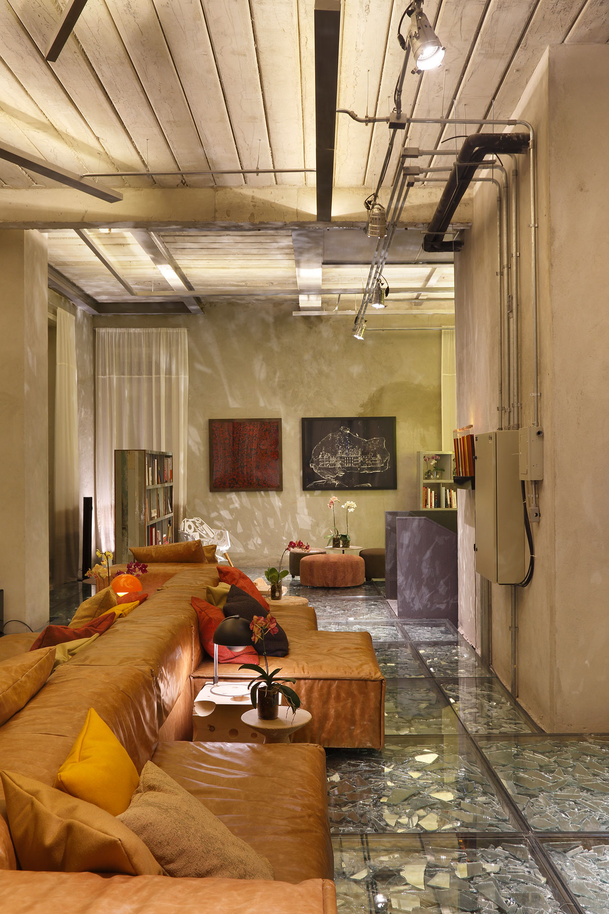 Stylish and Eclectic Design with Broken Glass Floor of Lab LZ for Casa Cor Rio 2015 by Giselle Taranto Architecture-28