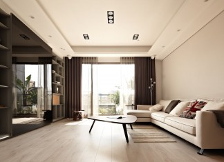 """Sun from the West Coast"" Contemporary Apartment in Taipei by Alfonso Ideas"