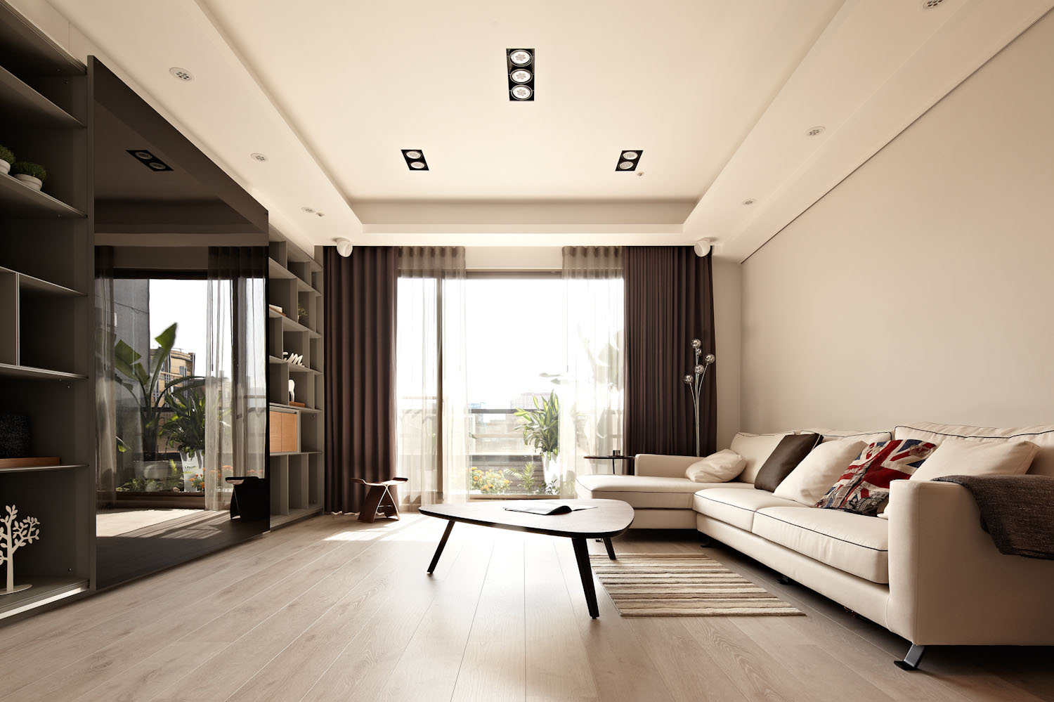Sun From The West Coast Contemporary Apartment In Taipei By Alfonso Ideas 01
