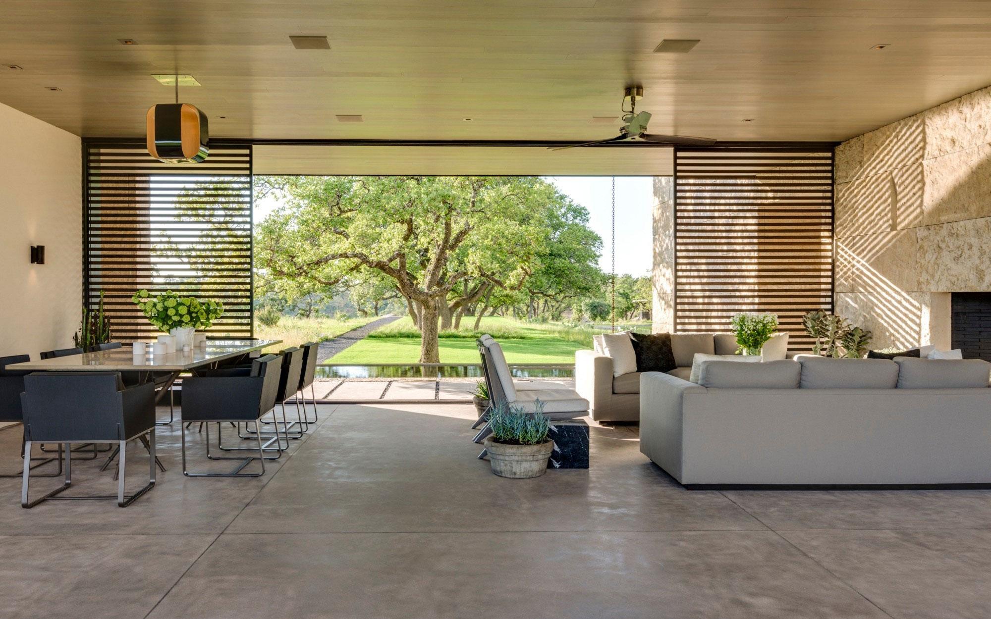modern living room at ranch