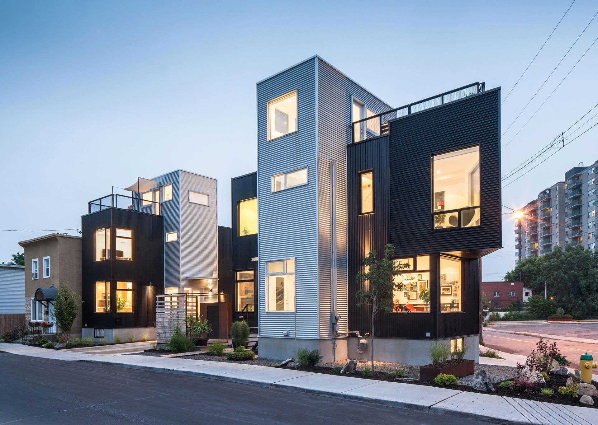 The hintonburg six multi unit development by colizza bruni for Modern house design ottawa