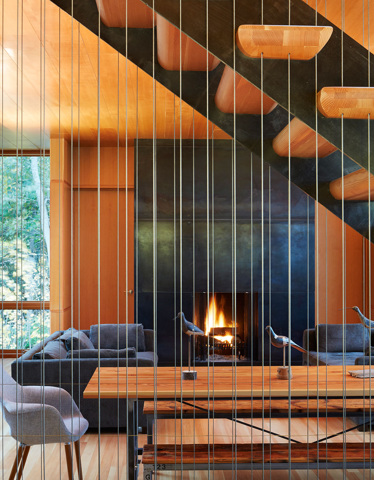 Tranquility and Simplicity Core Elements of Suns End Retreat in Harbert Michigan by Wheeler Kearns Architects-15