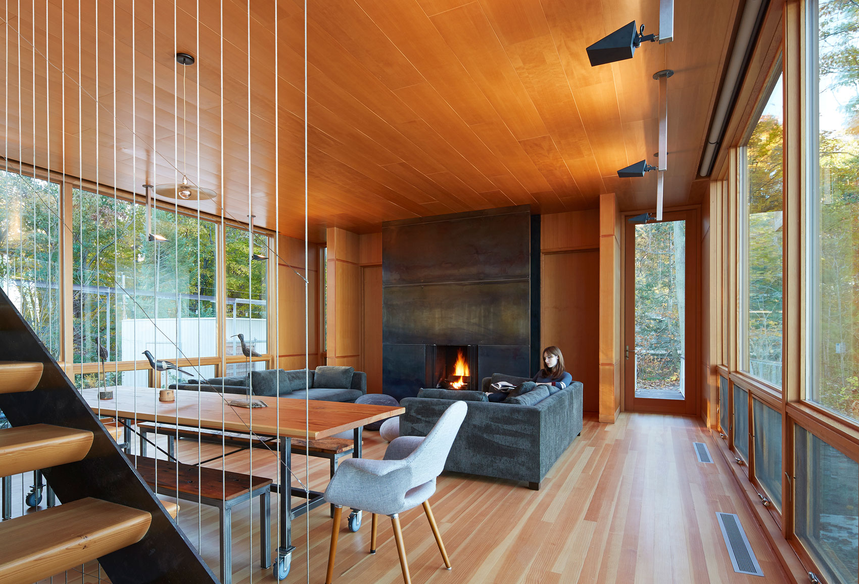 Tranquility and Simplicity Core Elements of Suns End Retreat in Harbert Michigan by Wheeler Kearns Architects-16