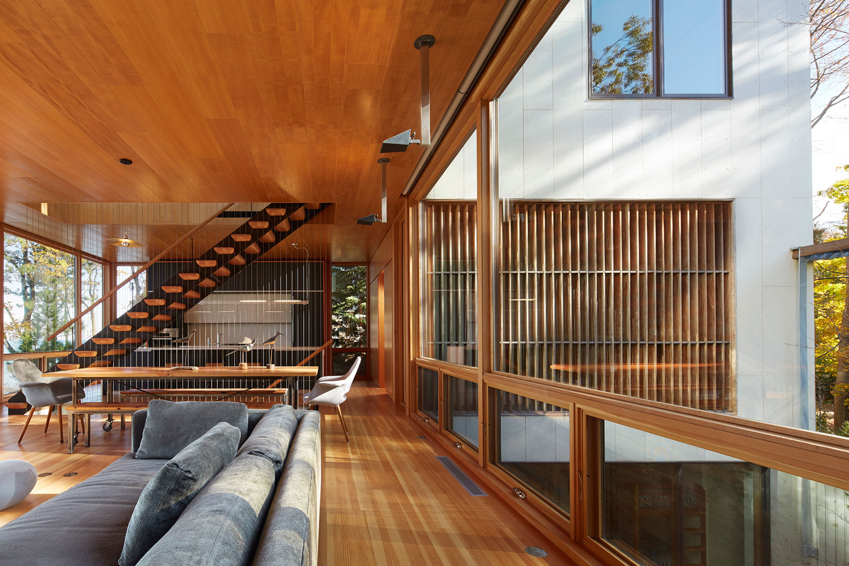 Tranquility and Simplicity Core Elements of Suns End Retreat in Harbert Michigan by Wheeler Kearns Architects-18