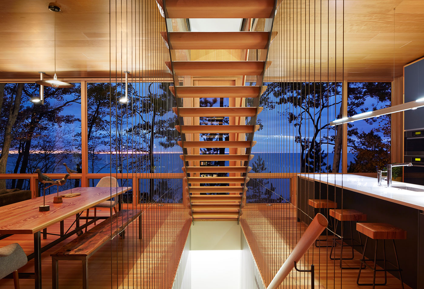Tranquility and Simplicity Core Elements of Suns End Retreat in Harbert Michigan by Wheeler Kearns Architects-22