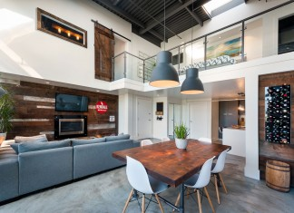 Vintage Modern Double Height Loft in Vancouver