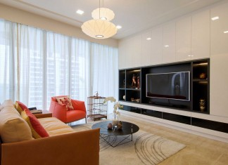 Apartment designed for an art lover in Singapore by KNQ Associates
