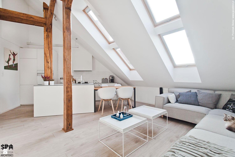 Attic Interior Design of an Apartment in Gliwice by Superpozycja Architekci-03