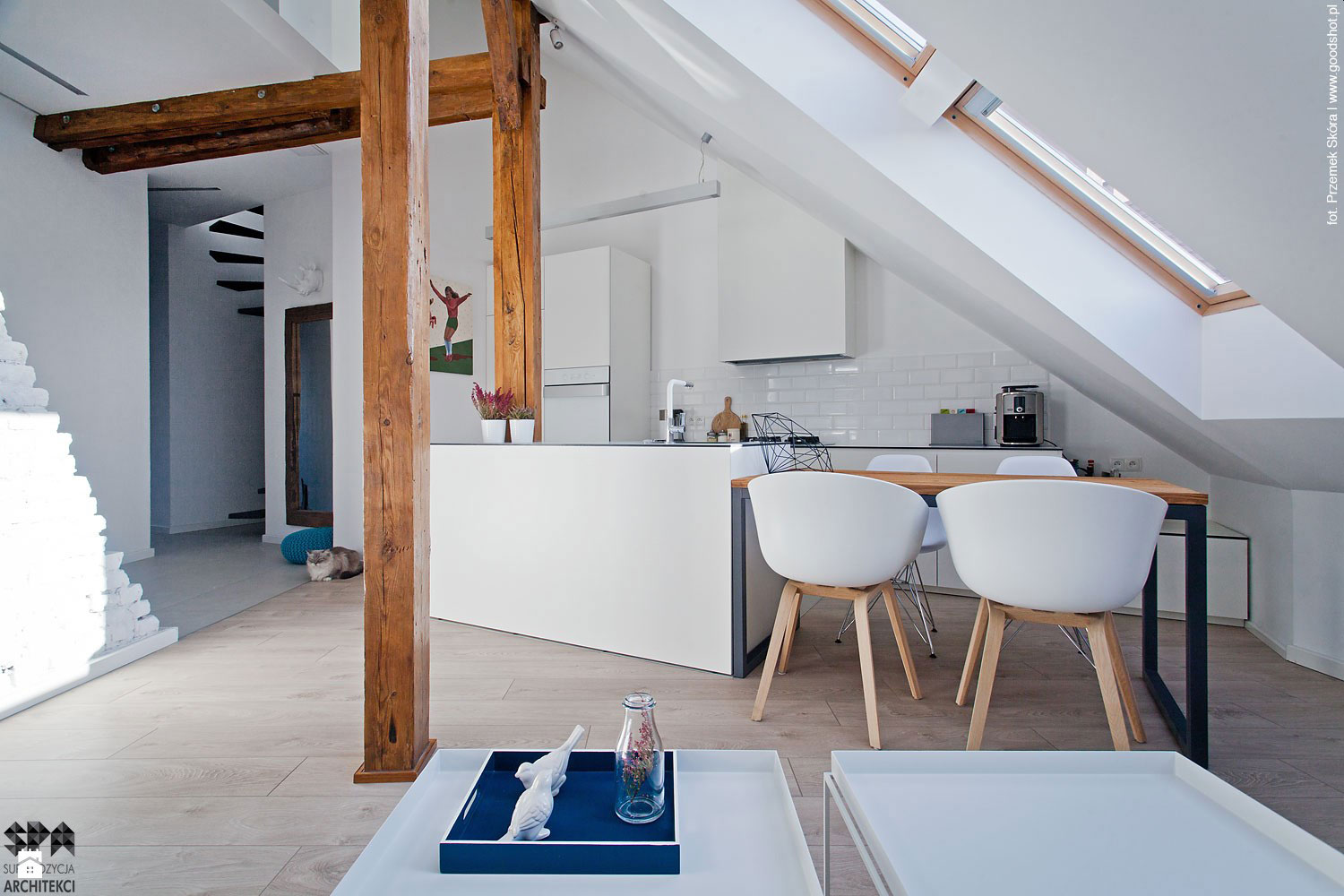 Attic interior design of an apartment in gliwice by - Setting up an attic apartment ...