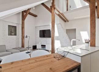 Attic Interior Design of an Apartment in Gliwice by Superpozycja Architekci